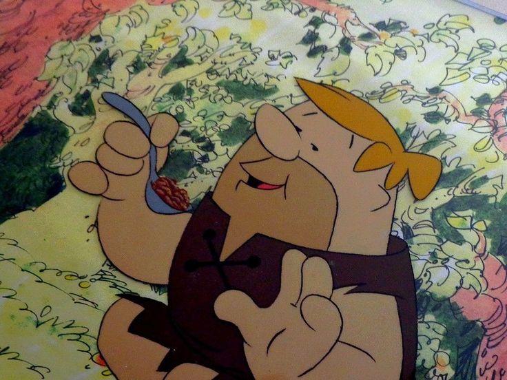 Barney Rubble Production Cel Hanna & Barbera vintage Artwork handmade framed art #IllustrationArt