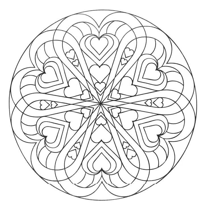 mandala full of hearts from the gallery mandalas mandala drawingdrawing artmandala coloring pagescoloring