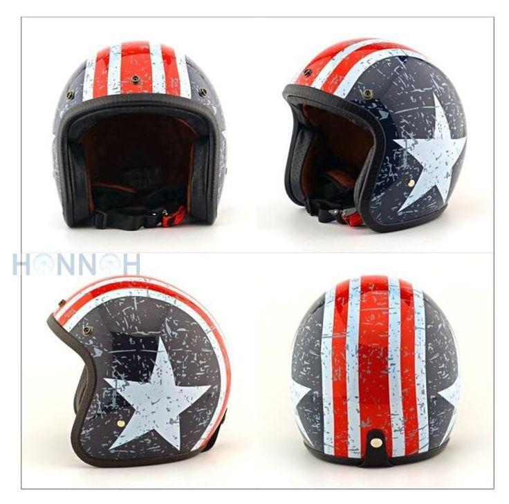 cafe racer helmet jet Vintage helmet Open face retro 3/4 half motorcycle helmet men women casco moto capacete Retro Motocross