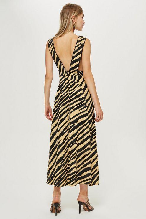 86d950383d72 Zebra Print Pinafore Dress - Topshop