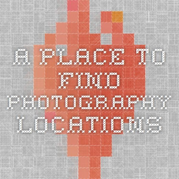 A place to find photography locations