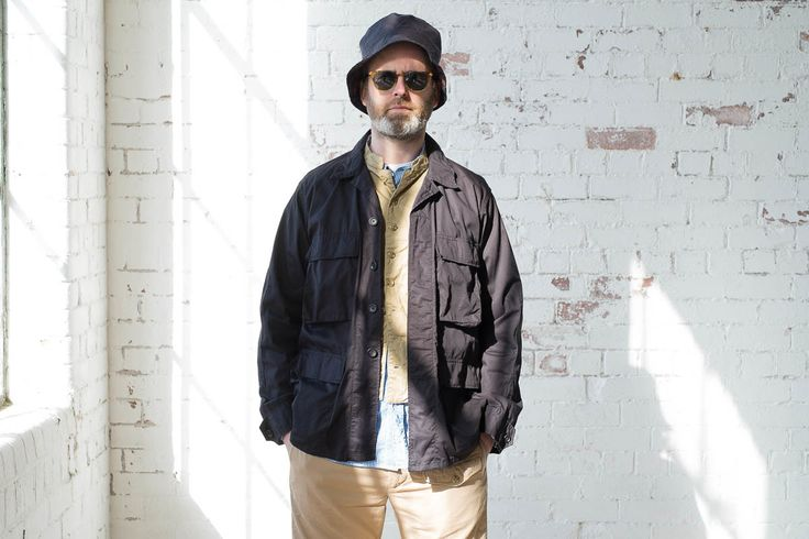 dk navy high count twill bdu shirt by engineered garments. Black Bedroom Furniture Sets. Home Design Ideas