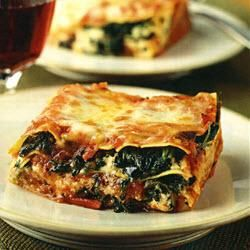 Easy one-step ricotta and spinach lasagne
