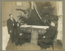 For Sale Ebay Dead man in casket funeral home mourners gothic antique post mortem photo