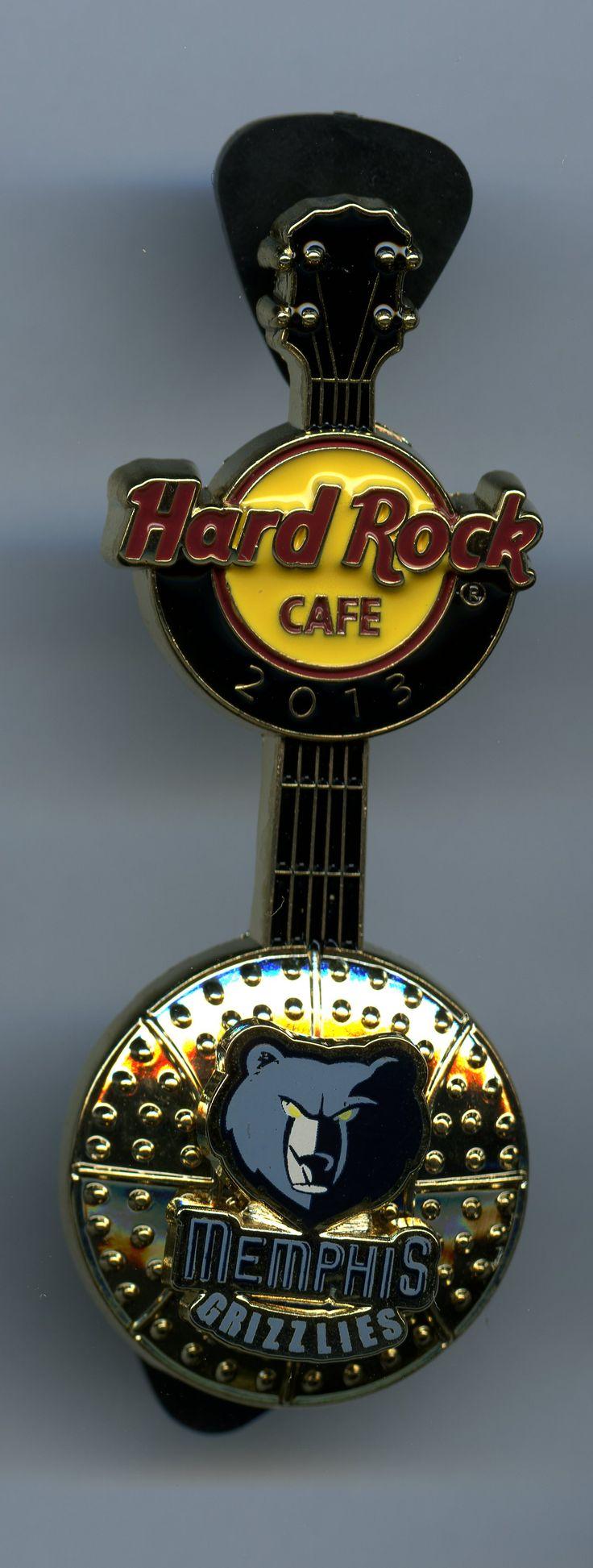 Memphis Grizzlies - Hard Rock Cafe Guitar Pin