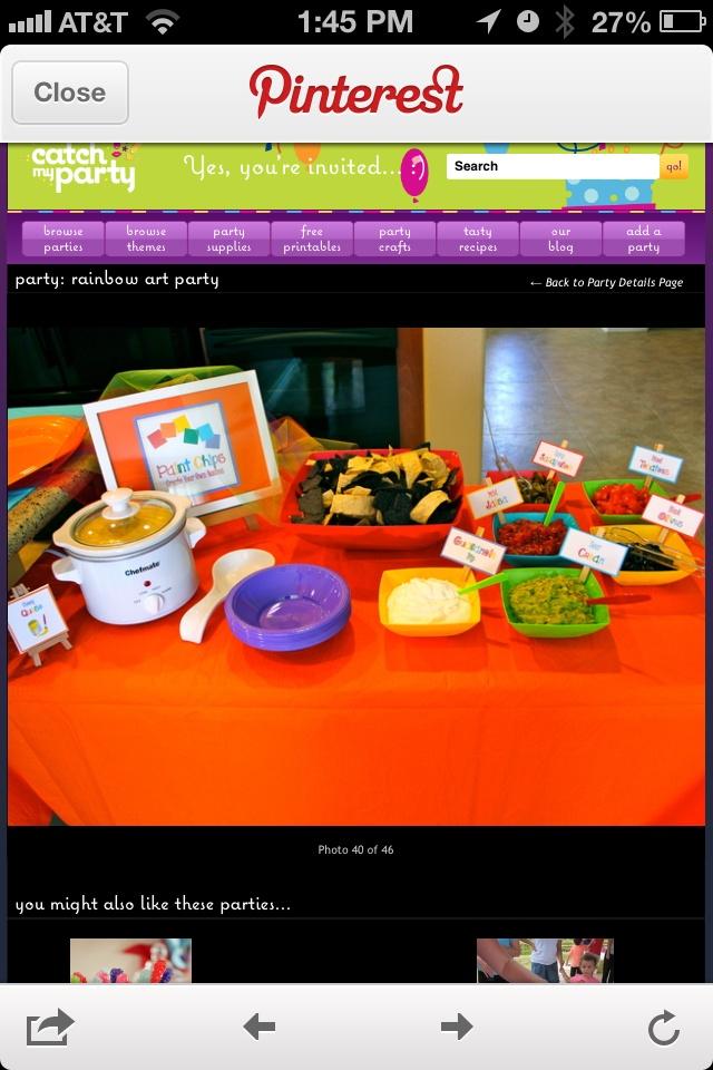 48 best images about nacho bar on pinterest nacho bar for Food bar rainbow moon