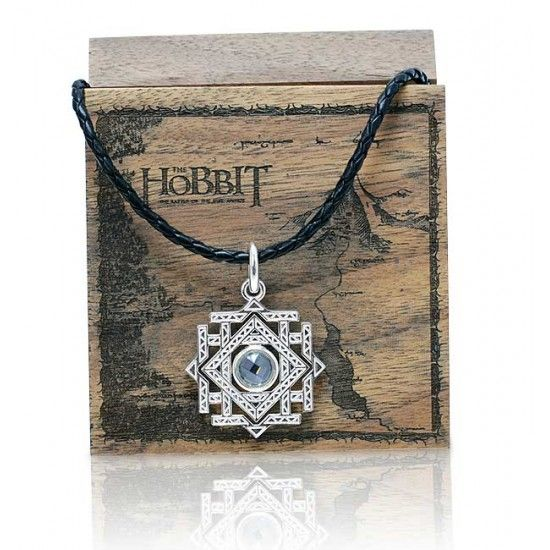 The Official Hobbit Arkenstone Pendant handcrafted here in Middle Earth New Zealand home of the Lord of the Rings and The Hobbit movie trilogys.  This official Arkenstone pendant comes complete with a wooden Collectors Jewelry Box and is shipped free. #thehobbit #hobbit