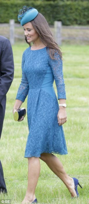 Pippa Middleton joined Princes William and Harry at wedding of James Meade and Lady Laura Marsham.    Prince William was an usher at the wedding of his close friends. James Meade and Lady Laura Marsham tied the knot in Norfolk.   Pippa Middleton looked beautiful in blue lace.   The groom, son of equestrian gold medallist Richard Meade, gave an unofficial  speech at William and Kate's wedding reception; the bride is the daughter of Julian Marsham, the eighth Earl of Romley.