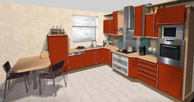 Meubles de cuisine intégrée plan de travail et conception en 3D, les plus belles cuisines modernes ou rustiques