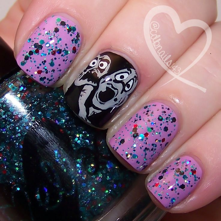 Poor Unfortunate Souls by ellagee.com with nail art by cdbnails.