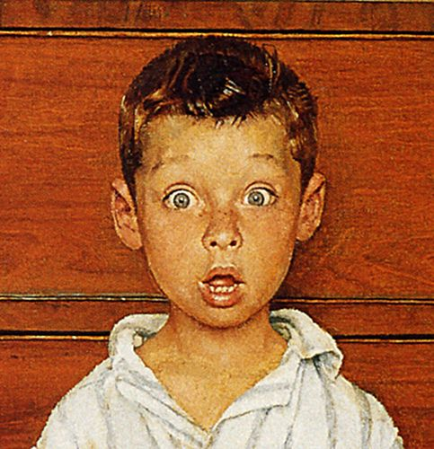 .1956 - The Discovery- by Norman Rockwell (detail) by x-ray delta one, via Flickr