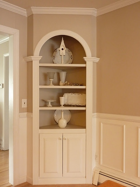 Best Desk Ideas Images On Pinterest Cupboards Built In - Corner dining room hutch