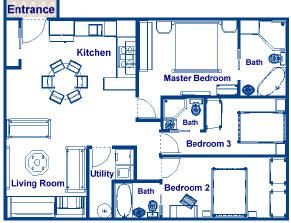 900 Square Foot House Plans 900 Sq Ft Three Bedroom And