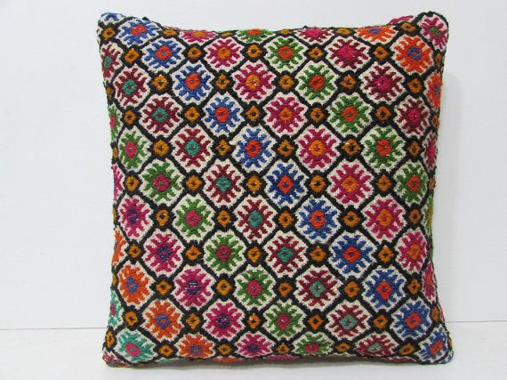 20x20 kilim pillow embellishing outdoor pillow case 20 inch pillow cover gypsy textile oversized throw pillow primitive country decor 27221