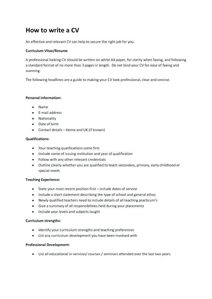 Write A Resume Template 2019 Resume Tips Cv Coverletter