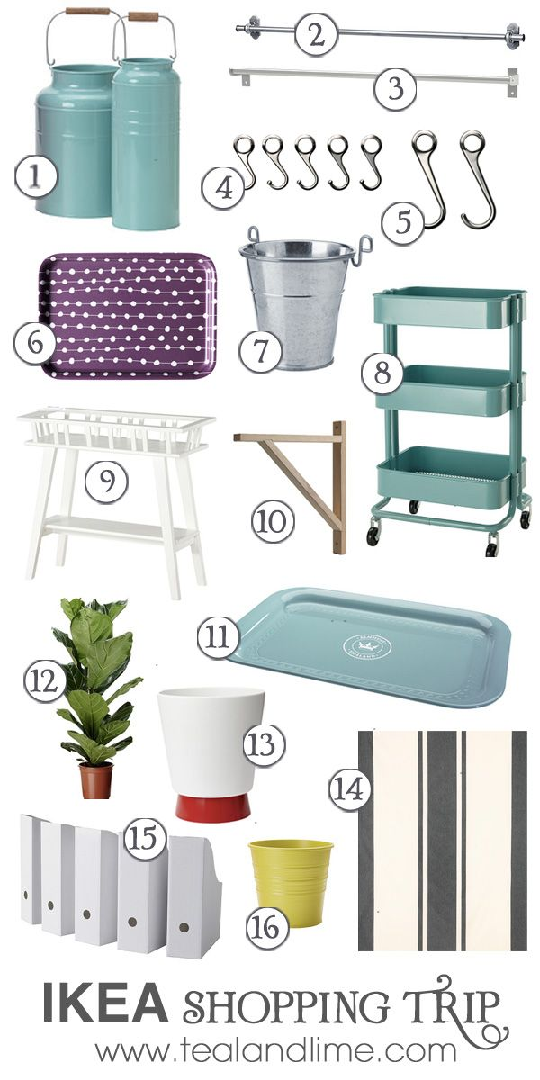 What I Bought: Ikea by Teal & Lime. I love the trays and the kitchen cart!