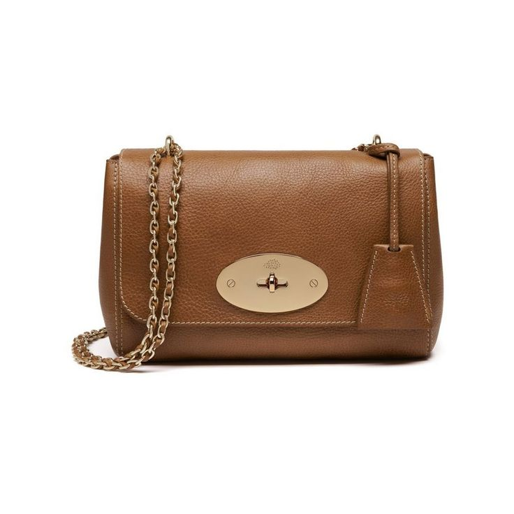 Lily in Oak Natural Leather With Soft Gold | Women | Mulberry