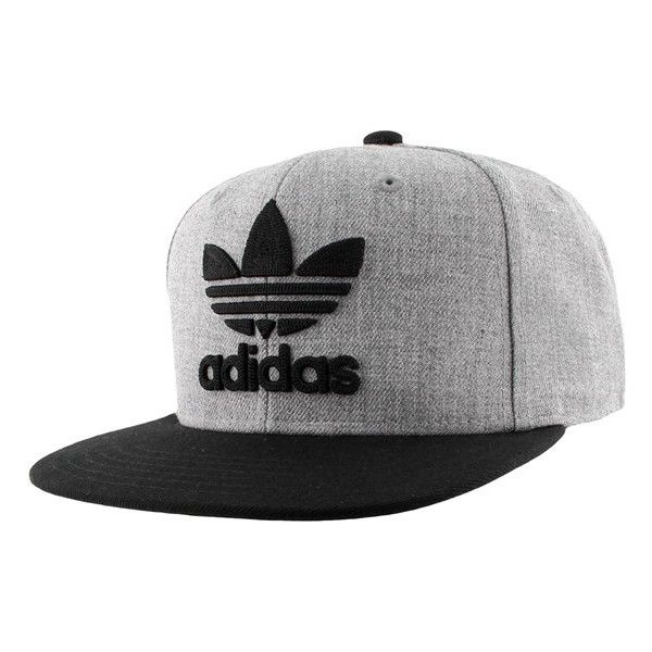 Men's Adidas Originals 'Trefoil Chain' Snapback Cap ($26) ❤ liked on Polyvore featuring men's fashion, men's accessories, men's hats, mens caps, mens snapbacks, mens snapback hats and mens chains