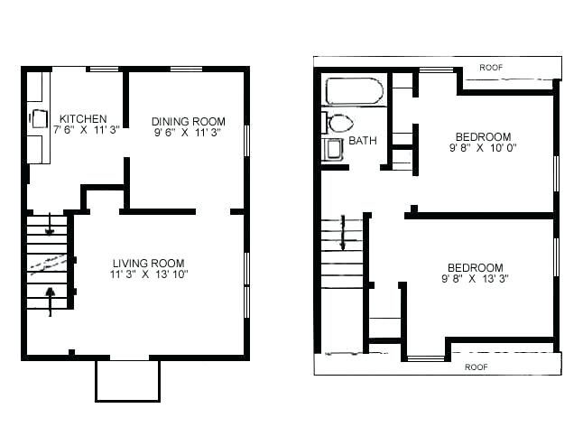 House Plans With Stairs In Kitchen Exclusive Inspiration Small House Plans Floor Small Floor Plan Change Duplex Floor Plans House Plans Small House Floor Plans