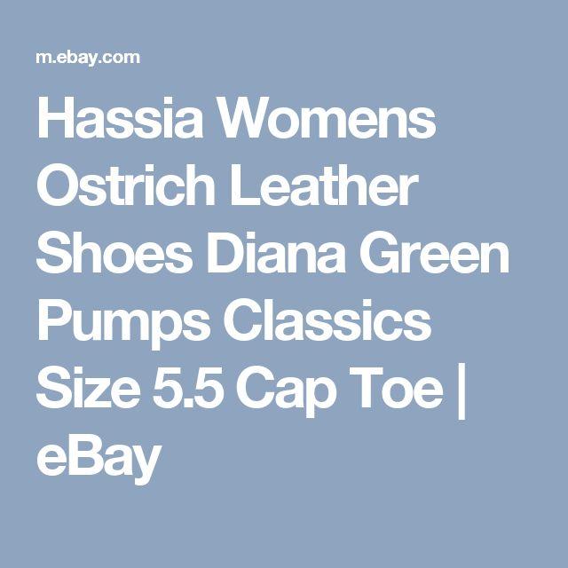 Hassia Womens Ostrich Leather Shoes Diana Green Pumps Classics Size 5.5 Cap Toe | eBay