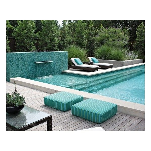 Modern Swimming Pools Designs Pictures-Photos-Images of Furniture for... ❤ liked on Polyvore