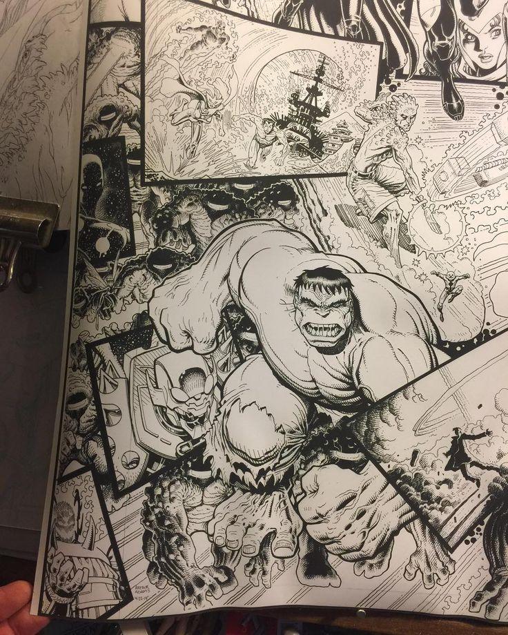 """""""Original Sin"""" detail no. 5.  #hulk #marvel #avengers #xmen #coverart #arthuradams #arthuradamsart"""