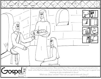 17 Best Images About Mary And Martha Coloring Pages On Pinterest