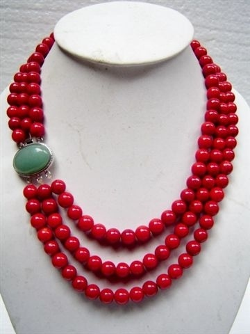 Image result for Method of wearing Red coral necklace
