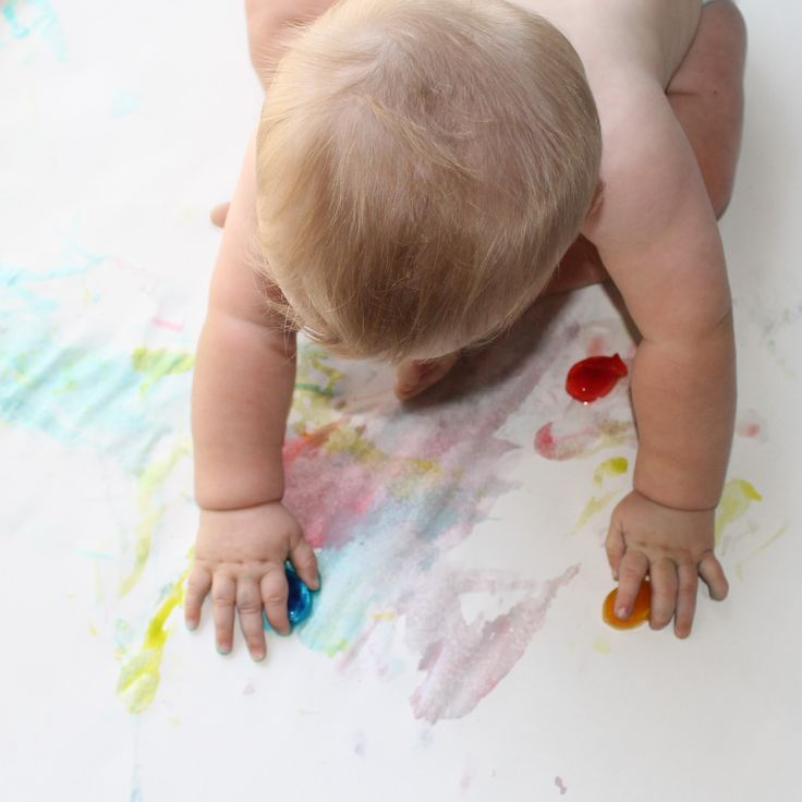 Ice painting for babies