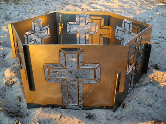 Decorative Portable Metal Fire Pit  Cross by CopperTreeDesign, $240.00