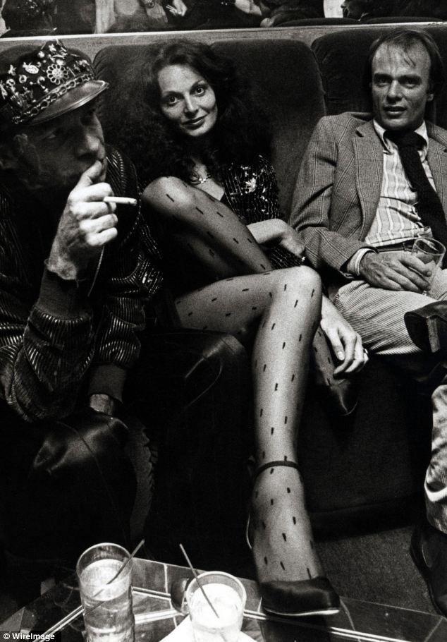 Diane von Furstenberg attends the party for Egon Von Furstenberg's Book 'The Power Look' on September 25, 1978 at Studio 54.