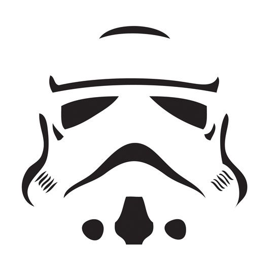 Stormtrooper by AutumnNight | Free Jack-o'-Lantern Templates For the Coolest Pumpkin on the Block | POPSUGAR Tech