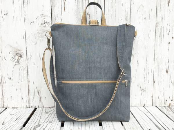 Handmade Vegan Backpack - Grey Design