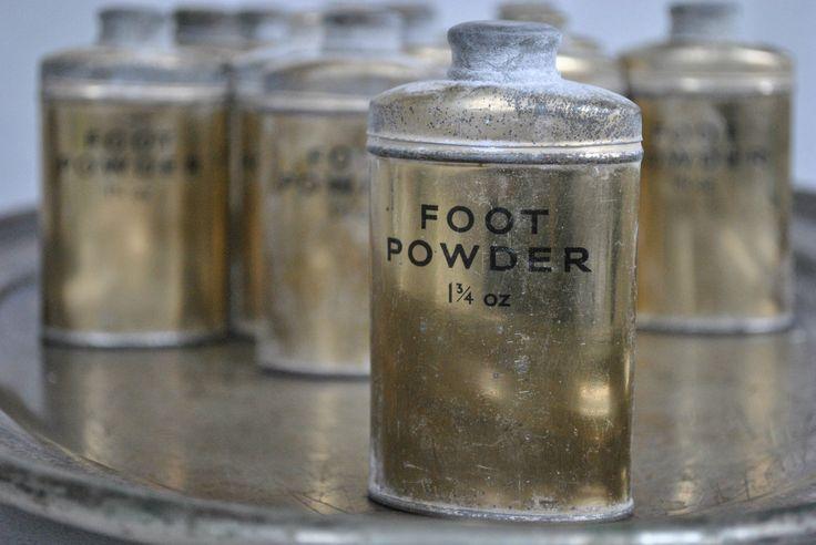 Altes Fußpuder FOOT POWDER aus dem 2. Weltkrieg DEKO shabby franske Brocante | eBay