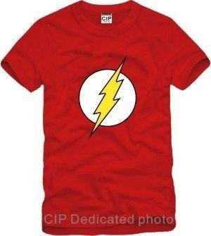 DC comic cartoon superheld de flash tshirt Flash Comics t-shirt mannen toevallige heren t-shirts mode 2016 goedkope mannelijke kleding GC104
