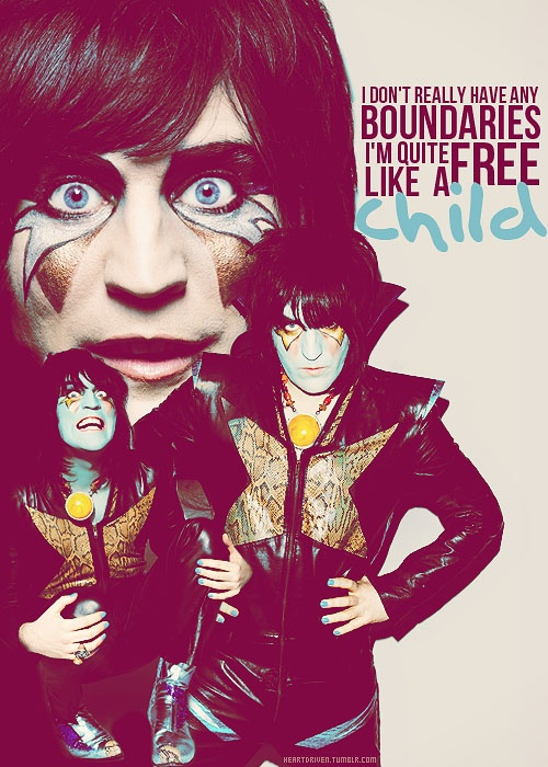 """""""I don't really have any boundaries. I'm quite free. Like a child."""" - Noel Fielding"""