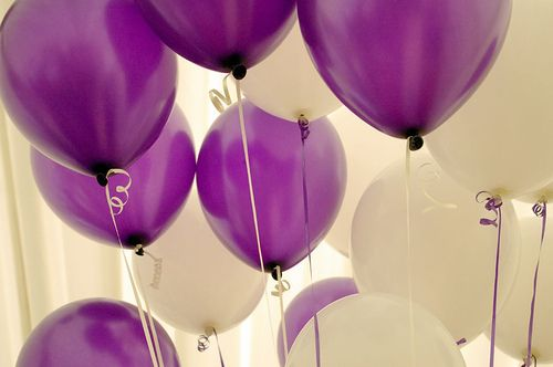 Globos...: White Balloons, Colors, Purple Passion, Purple Wedding, Things Purple, Color Purple, Party Ideas