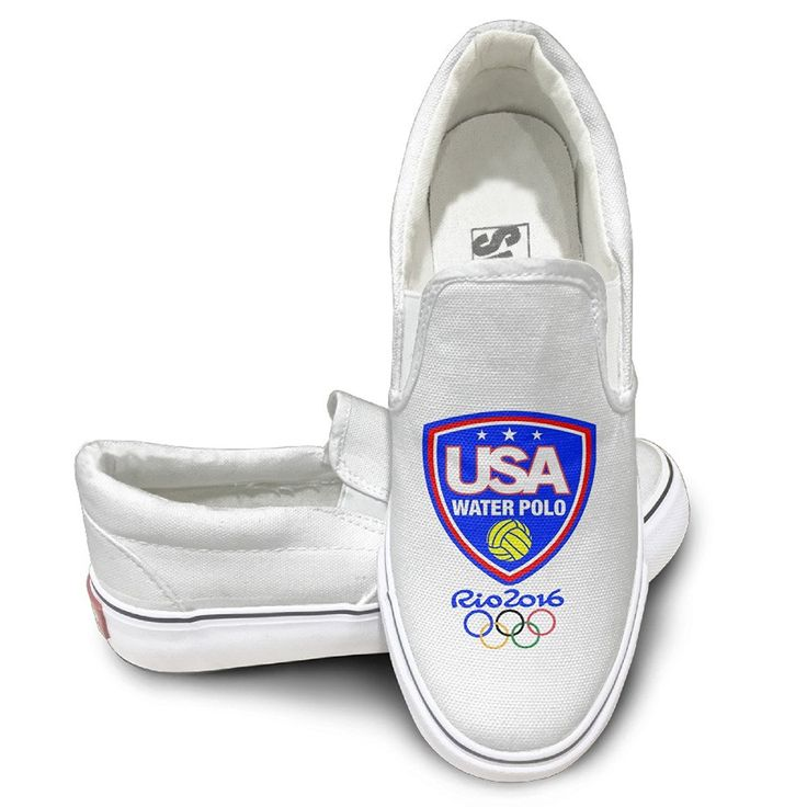 Fashion Canvas Slip-On Team USA Water Polo Rio Olympics 2016 Canvas Board Shoes For Men, Women And Teens *** Check out the image by visiting the link.