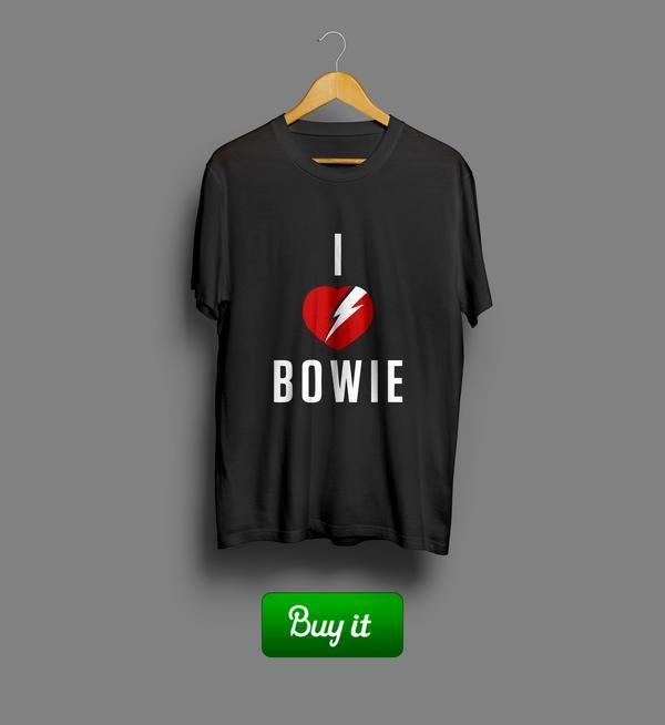 I love Bowie | #David #Bowie #card #Дэвид #Боуи #tshirt #футболки #love