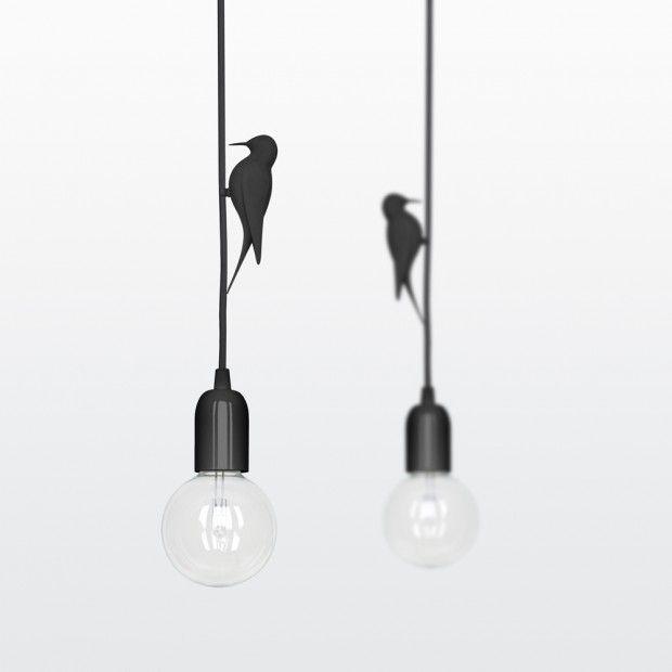 Deze specht houdt je hanglamp gezelschap Roomed | roomed.nl