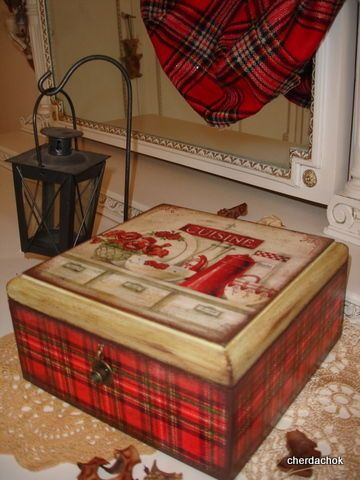 "Шкатулка ""Шотландский прованс"" - шкатулка,шкатулка декупаж,чайная шкатулка"