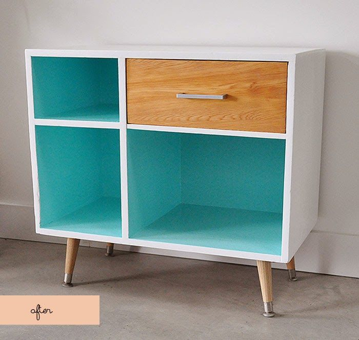 Mid Century Modern Style Before + After. Cabinet MakeoverDiy  FurniturePainted ...