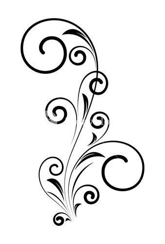 decorative swirl floral element design | swirly designs, floral border  design, swirly tattoo  pinterest