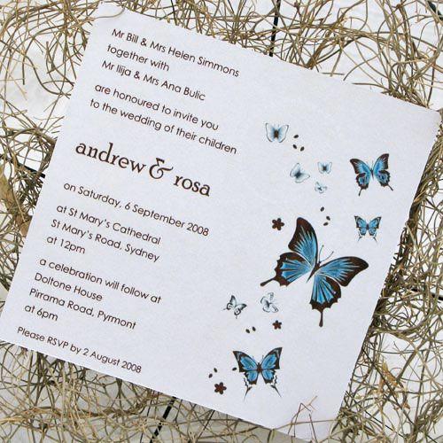 Wedding Butterfly Invitations