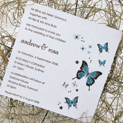Wedding Butterfly Invitations