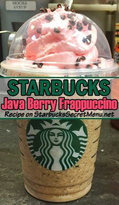 Try a Starbucks Java Berry Frappuccino for Valentine's Day!