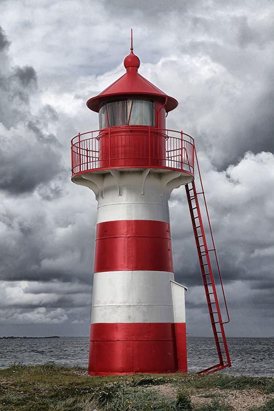 Grisetåodde Lighthouse, Humlum, Midtjylland, Denmark