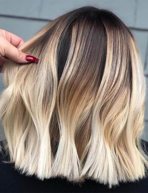 Amazing Blonde Hair Colors Contrasts for Women Nowadays