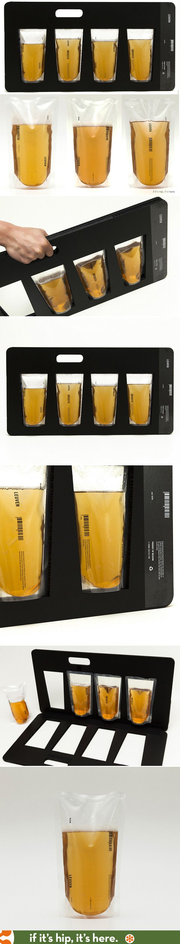 Leuven Beer Packaging is a unique concept of PET vacuum sealed beer packaged in a recyclable, light carrying case.