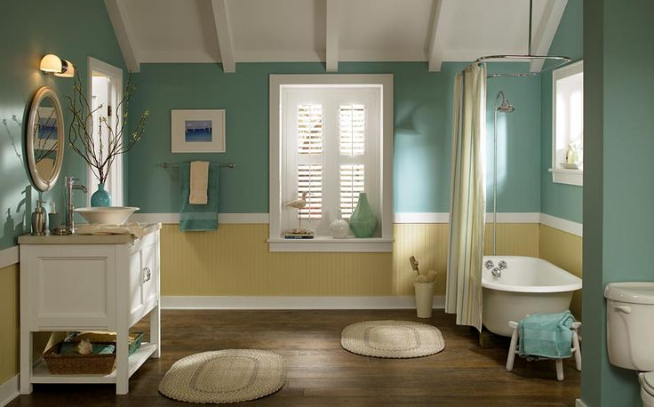 17 best images about paint on pinterest paint colors for Colourful bathroom ideas